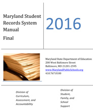 2016 Maryland Student Records Manual